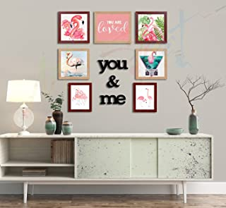Painting Mantra Art Street You and Me Individual Acrylic Photo Frame (Mix Size) with MDF Plaque - Set of 7