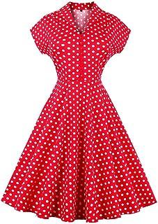 (ボトミ) Botomi ロカビリー ワンピース 上質 ひざ丈 50年代 クラシック ワンピース レディース カクテル ドレス パーティー 結婚式