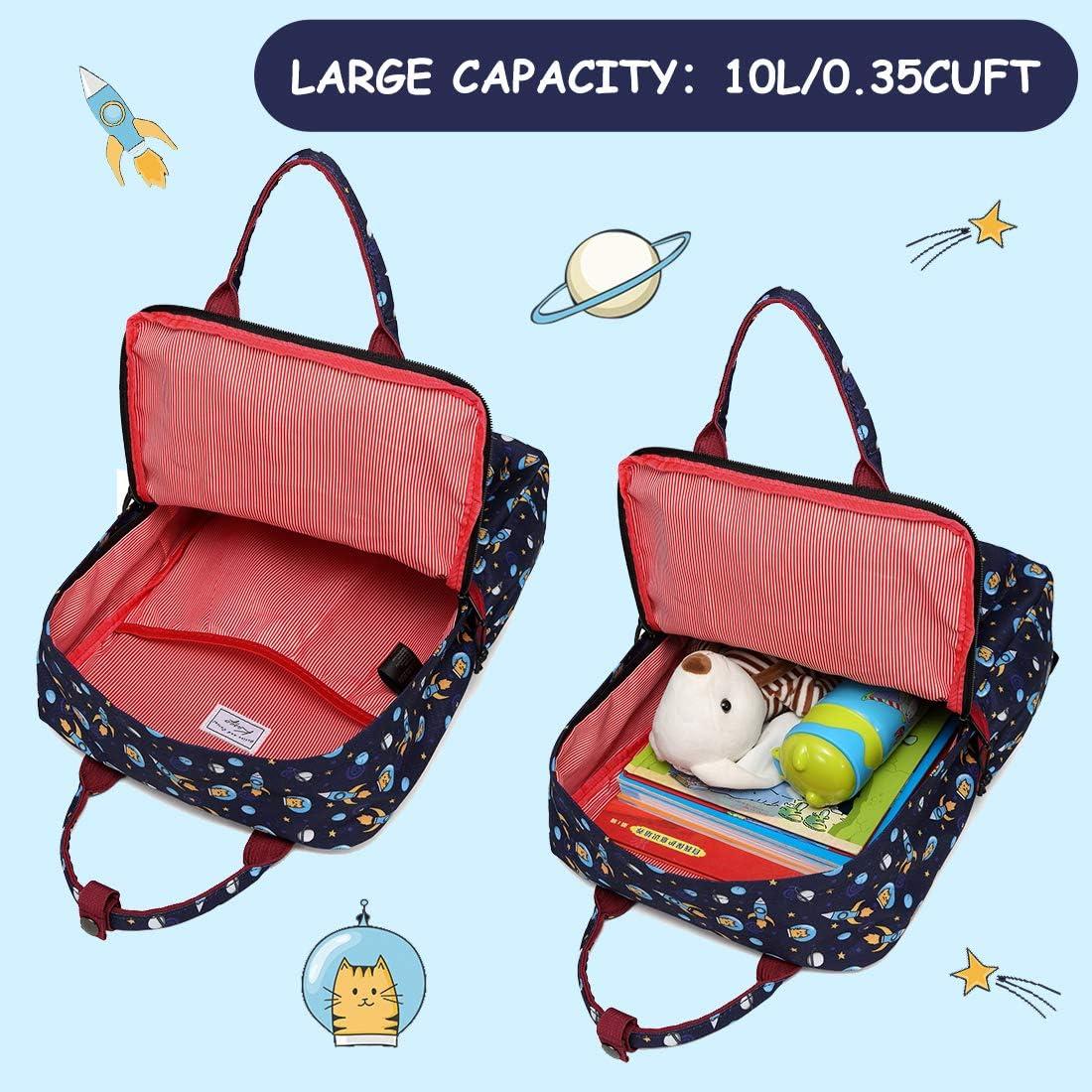 Kids Backpack Kasqo Lightweight Water Resistant Preschool Rucksack for Little Boys and Girls with Water Bottle Pockets