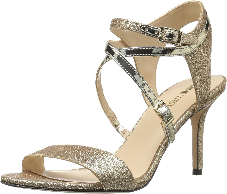 Nine West Womens Gypsee Glitter Dress Sandal