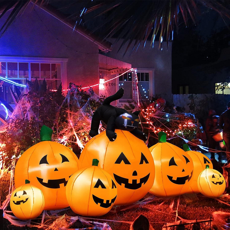Halloween Inflatable Decoration Washington Mall 8 Pumpkins excellence FT Long 7