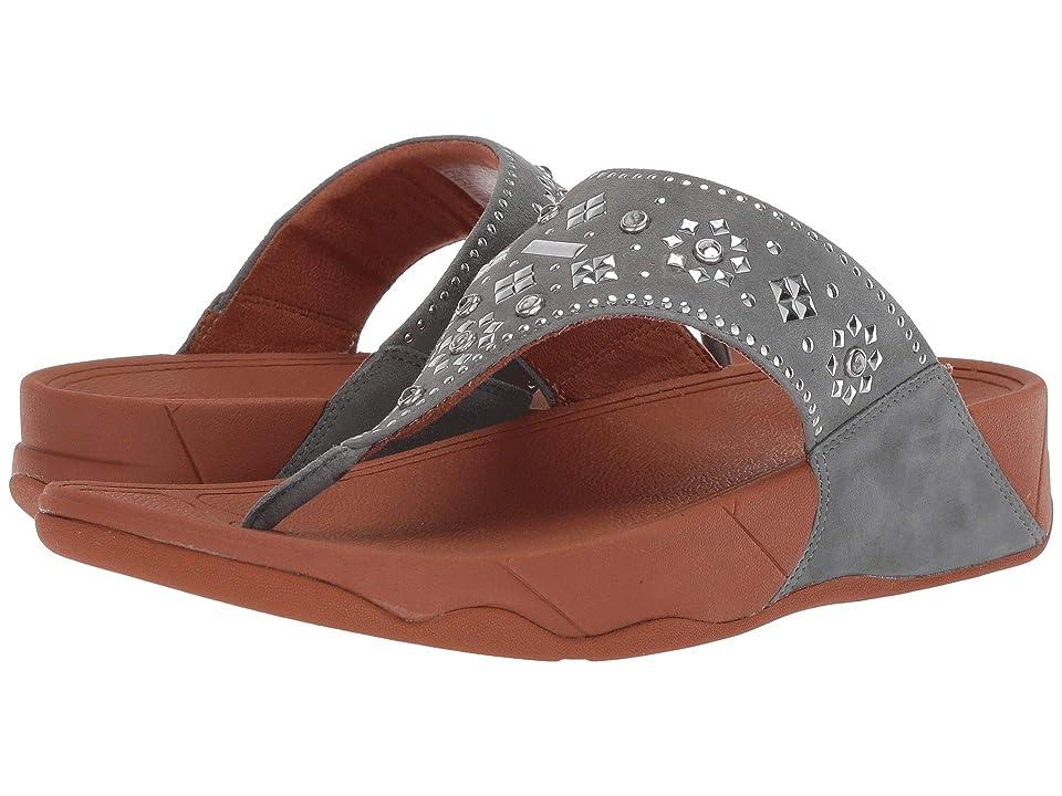FitFlop Lulu Aztek Stud Toe-Thong Sandals Suede (Dove Blue) Women