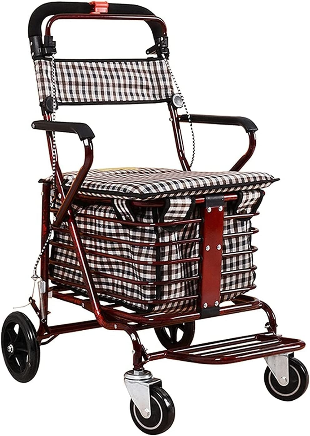 Shopping Cart Folding overseas Max 55% OFF with Wheels 4 Troll
