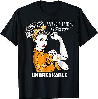Appendix Cancer Awareness T-Shirt Unbeakable Warrior Shirt