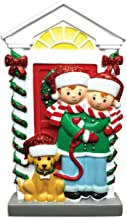 Grantwood Technology Personalized Christmas Ornaments Couple with Dog/Personalized by Santa/Personalized Christmas Ornament Couple/Couple Ornament
