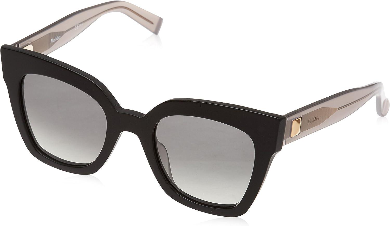 Max Mara Women's Mm Prism Iv Square Sunglasses BLACK DARK GREY 50 mm