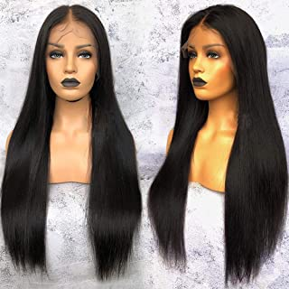 Glueless Straight Lace Front Wig Human Hair Lace Front Wigs For Black Women 22 inch Brazilian Straight Hair Wig Pre plucked With Baby Hair by MSGEM