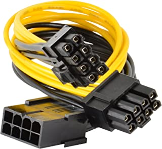 JacobsParts PCI Express Power Splitter Cable 8-pin to 2x 6+2-pin (6-pin/8-pin) 18 AWG (5-Pack)