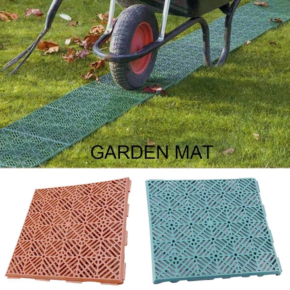 Rich-home Alfombrillas de jardín de Goma Antideslizante Suelos de plástico para jardín Balcón Cojines de jardín: Amazon.es: Hogar