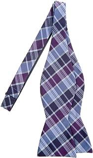 Retreez Modern Tartan Check Styles Woven Microfiber Self Tie Bow Tie