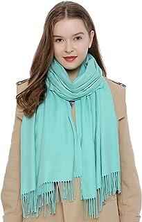 DonDon Damen Schal einfarbig weich 185 x 65 cm
