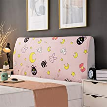 Headboard Cover for Single Double King Machine Washable Velvet Headboard Guard Bed Stretch Covers Nordic Style Head Board ...