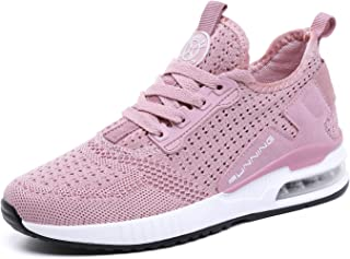 Basket Femme Homme Chaussure de Sport Course Running Fitness Tennis Mode Sneakers(Rose,Taille 39)