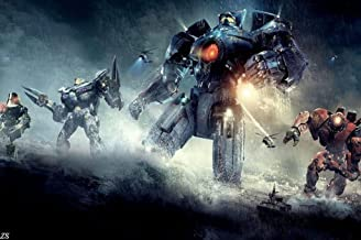 Pacific Rim Jaegers Nice Silk Fabric Cloth Wall Poster Print (36x24inch)