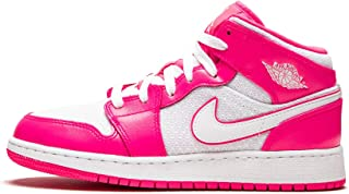 Jordan Nike Air 1 Mid Girls' Shoe (3.5y-7y) Big Kids 555112-611
