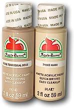 Apple Barrel Acrylic Paint Dark Flesh Tones Set - Khaki & Territorial Beige (2 Ounces Each)