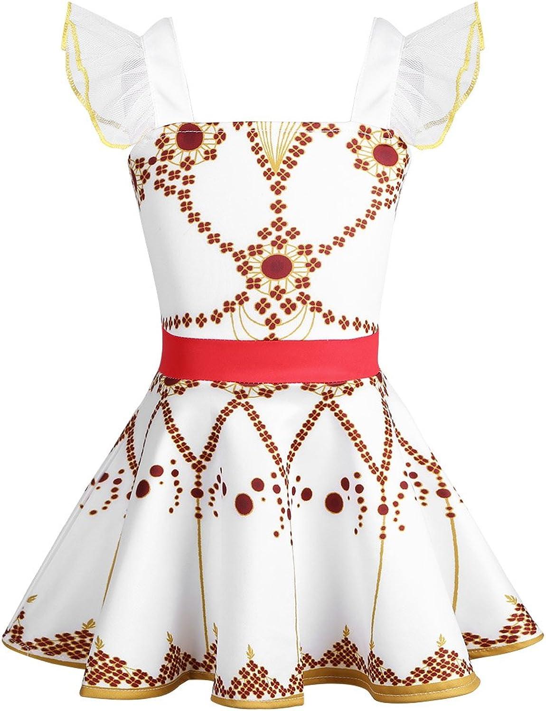 TiaoBug Kids Girls Felicie Ballet Leotard Skirted Dress Ballerina Costumes Gymnastic Dance Leap Tutu Skirt