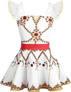 TiaoBug Kids Girls' Princess Felicie Cosplay Dresses Ballerina Tutu Dance Leap Skirt Costumes