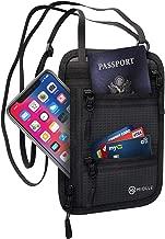 Neck Wallet Passport Holder Neck RFID Blocking Travel Pouch Travel Neck Wallet Travel Document Holder Organizer Anti Theft Security for Men and Women