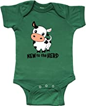 inktastic New to The Herd- Cute Cow Infant Creeper