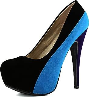 Women's High Heel Almond Toe Platform Classic Stiletto Pump Shoes Marquise-06