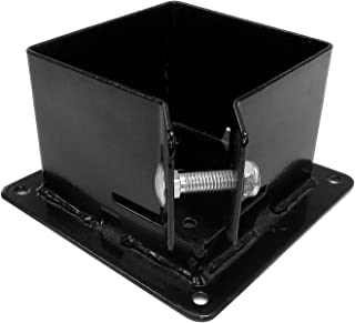 Pylex 13062 Fix Base 44 Post Anchor Bracket Black - 10 Pack