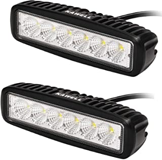 KAWELL 2 Pack 18W LED Flood Work Light Off Road Led Light Bar Fog Driving Lamp for Jeep Truck SUV ATV Motorcycle Black