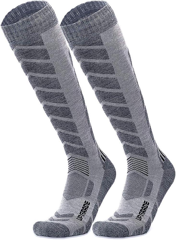 Wool Ski Socks Warmest-Best Lightweight Snowboard Socks for Winter Outdoor Men Women Kids