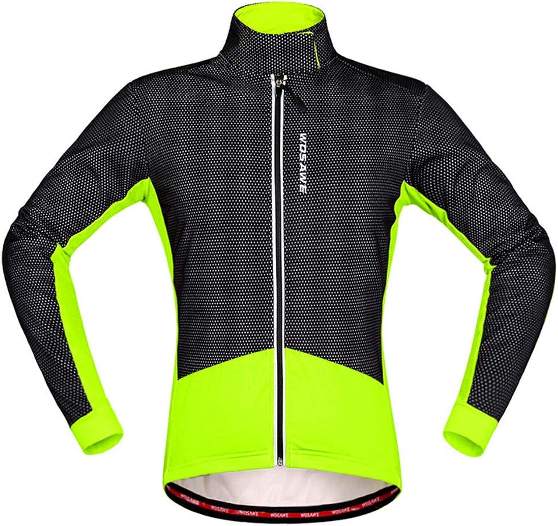 Unisex Thermal Fleece Cycling Jacket Soft Shell Long Sleeve Winter Waterproof Windproof Firewall Winter Biking Jacket Reflective Logo Zipper