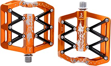 K PEDC Mountain Bike Pedals High-Strength Non-SlipUltra Strong Colorful Aluminum Alloy CNC Machined Cycling Sealed 3 Bearing Pedals for BMX MTB 9/16
