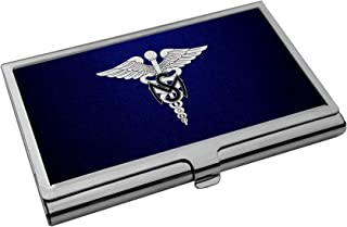 Business Card Holder - US Army Medical Service Corps, branch insignia