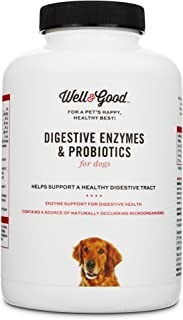 Well & Good Digestive Enzymes & Probiotics Chewable Dog Tablets