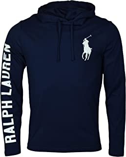 Polo Ralph Lauren Polo RL Men's Lightweight Long Sleeve Embroidered Pony Graphic Jersey Hoodie