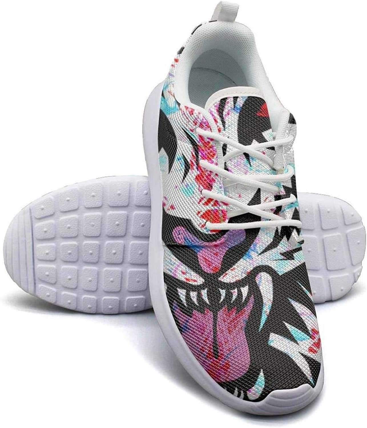 Gjsonmv Evil White Tiger face mesh Lightweight shoes for Women Cool Sports Hiking Sneakers shoes