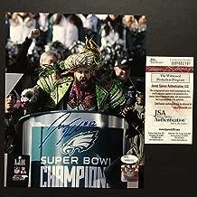 Autographed/Signed Jason Kelce Super Bowl Parade Speech Mummers Philadelphia Eagles 8x10 Football Photo JSA COA