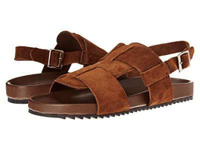 Grenson Wiley Strap Sandal (Cigar Suede) Men
