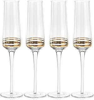 Zodax CH-4743 Sofia Flute Champagne Glass (Set of 4), 4 Piece