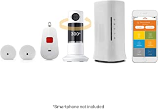 Home8 Video-Verified Medical Alert System - Equipped with Activity Tracking Sensors, Panic Button, Full Panoramic Twist Camera, and Night Vision