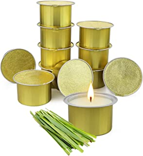 Citronella Candles Outdoor, 12 Pack Citronella Candle with Lemongrass for Garden Patio Yard, Citronella Scented Candles fo...