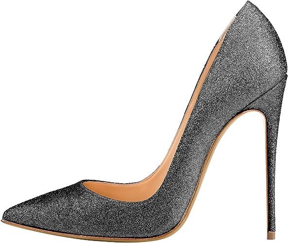 DYF AHommesde Chaussures Grande Taille Couleur Solide Forte Bouche Peu Profondes,12cm,noir,44