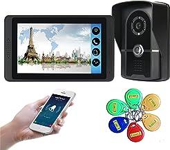 Wifi Video Deurbel, 7 Inch Video Deurtelefoon Beveiliging Surveillance Kit, Intercom, Nachtzicht Camera, Monitor Id-kaart ...