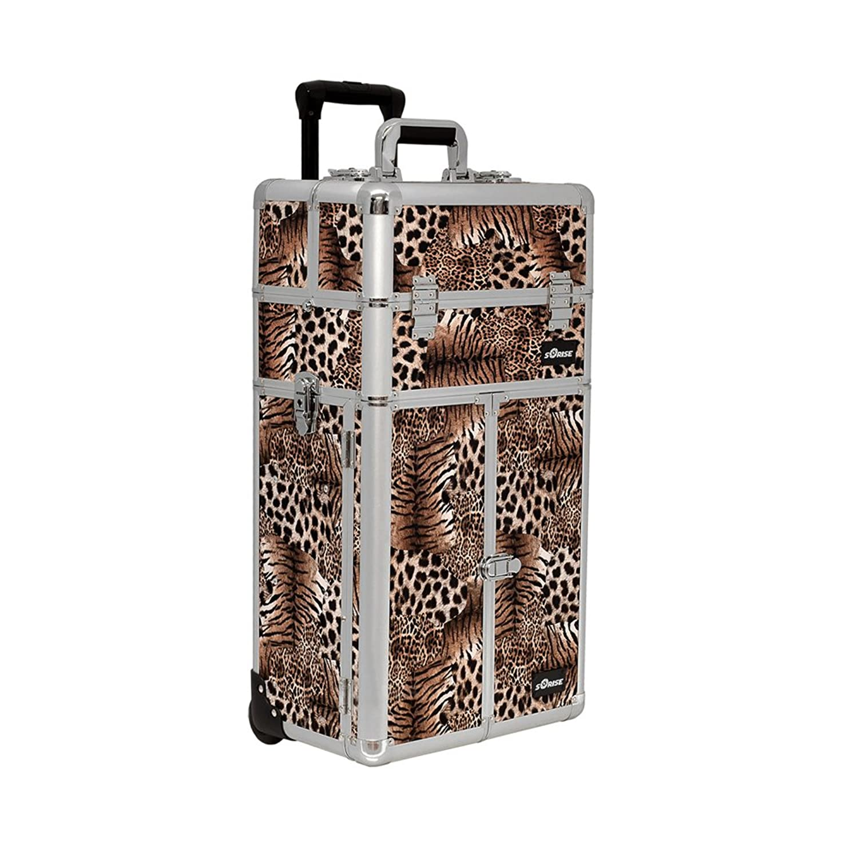 Leopard Trolley Craft/Quilting Storage Case - I3665