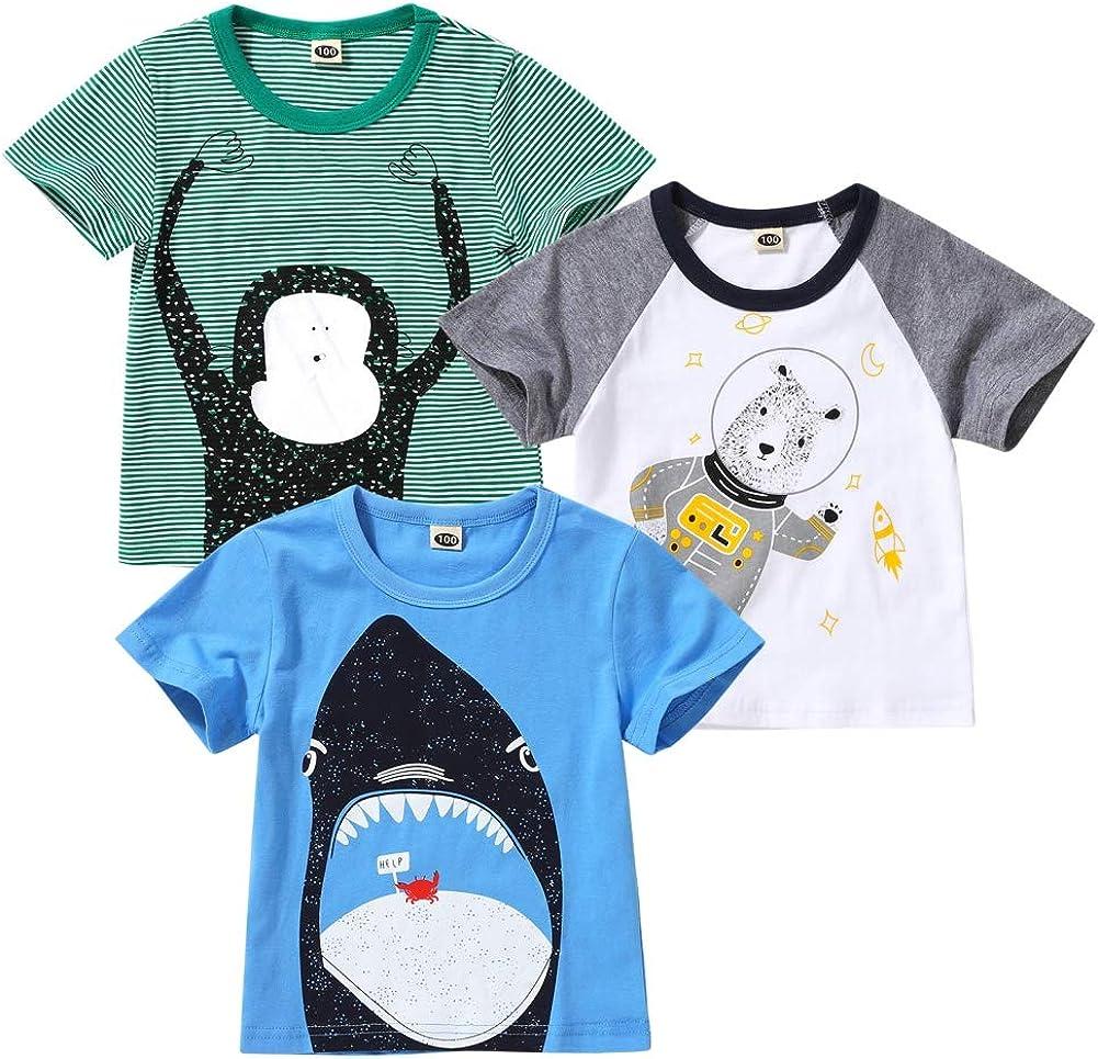 Weixinbuy Baby Boy's Short Sleeve Graphic Raglan Baseball T-Shirt Shirts Summer Clothes Tees Tops