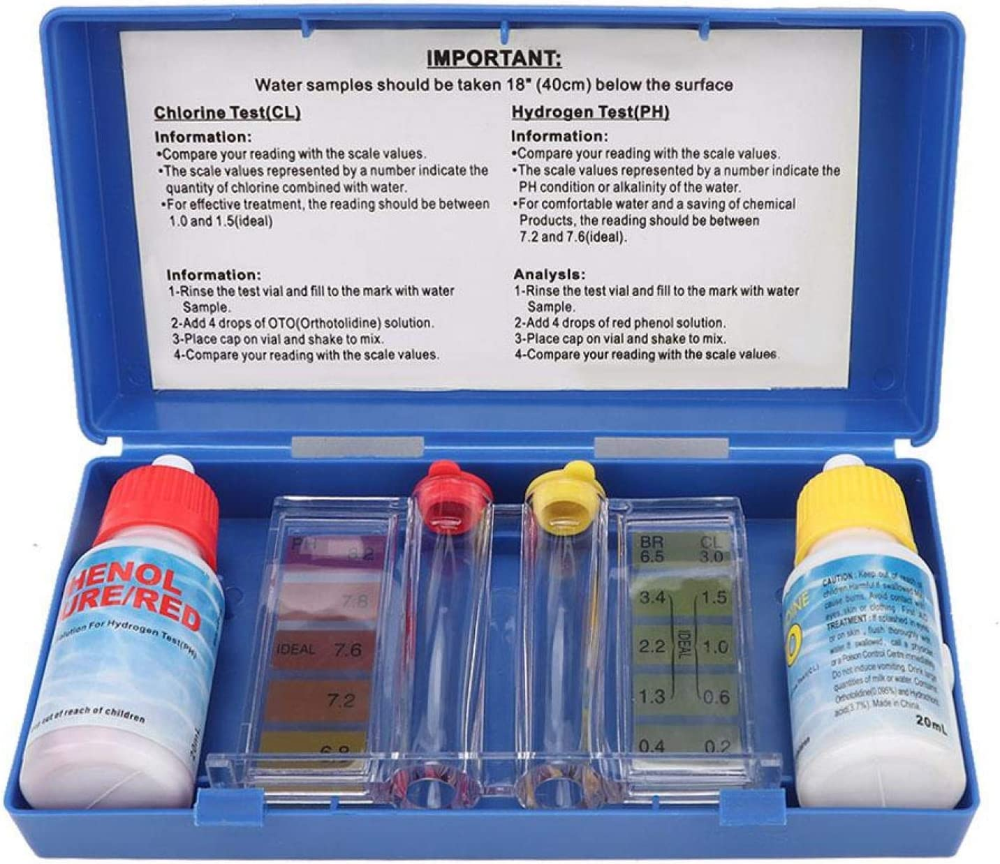 Aoutecen Practical PH Test New popularity Kit and Chlorine for Tucson Mall Testing