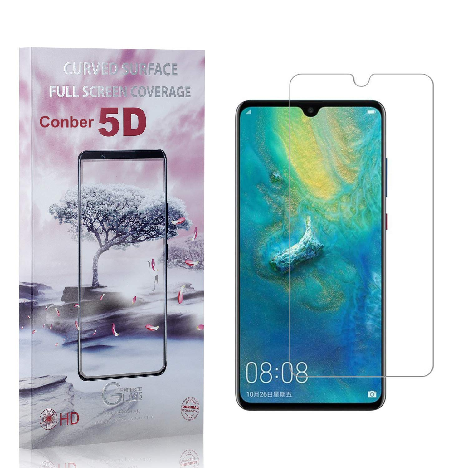 Conber 1 Pack Screen Protector Now free shipping Anti-Shatt for Mate 20 Huawei Seasonal Wrap Introduction