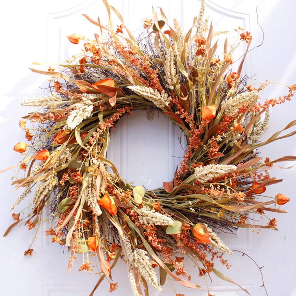 caralin 24 inch Artificial Fall D for specialty shop Wreaths overseas Harvest Front