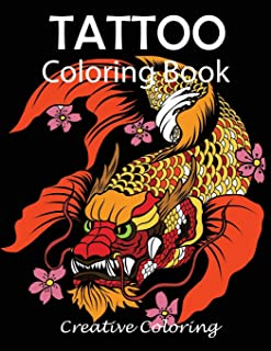Tattoo Coloring Book: Adult Coloring Book of Tattoo Designs