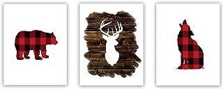 Set of 3 Woodland Animal Nursery Cardstock Prints - 8.5 x11
