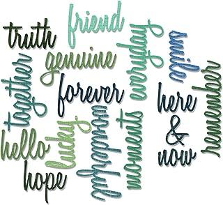 Sizzix, Multi Color, Thinlits Die Set 660225, Friendship Words Script by Tim Holtz, 16 Pack, One Size