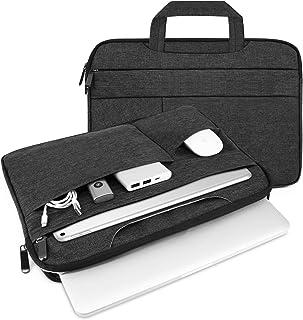 AMERTEER 裏起毛 PCインナーバッグ 13.3/13.5インチ 二層構造 衝撃吸収 防水 pcインナーケース ノートパソコンケース MacBook Air/MacBook Pro/surface pro/ThinkPad/Dynabook/Chromebook/ラップトップ用 PCバッグ (13.3inch) (ブラック black) …
